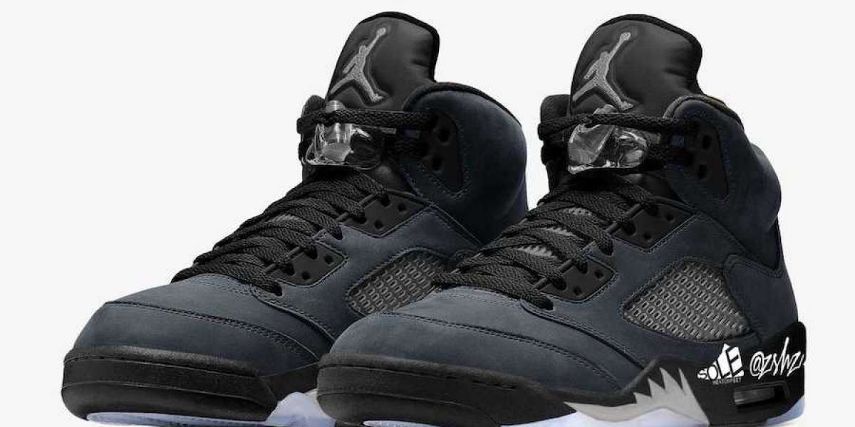 "DB0731-001 Air Jordan 5 ""Anthracite"" Anthracite/Wolf Grey-Clear-Black released in 2021"
