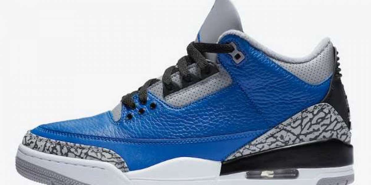 "CT8532-400 Air Jordan 3 ""Varsity Royal"" aka ""Blue Cement"" 2020"